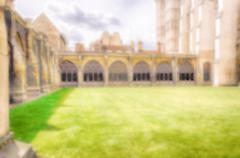 Defocused Background of the  Cloister of the Westminster Abbey, London, UK. I - stock photo