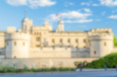 Defocused Background of The Tower of London, UK. Intentionally blurred post p Stock Photos