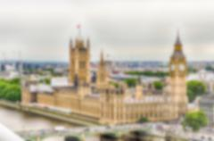 Defocused Background of Westminster and Big Ben in London, UK. Intentionally  - stock photo
