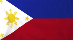 Flag of Philippines waving in the wind. Stock Footage