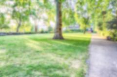 Defocused Background of Gardens in Pimlico, London, UK. Intentionally blurred Stock Photos