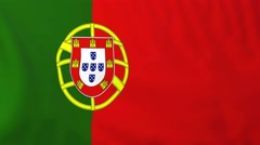 Stock Video Footage of Flag of Portugal waving in the wind.