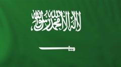 Stock Video Footage of Flag of Saudi Arabia waving in the wind.