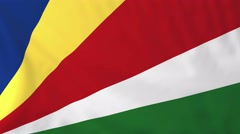 Stock Video Footage of Flag of Seychelles waving in the wind.