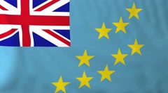 Flag of Tuvalu waving in the wind. Stock Footage