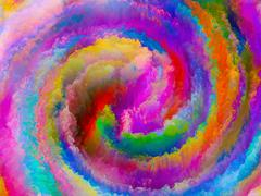 Stock Illustration of Color Spiral