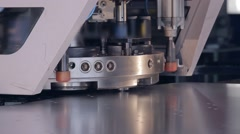 perforating machine for metal 2 - stock footage