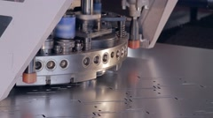 Perforating machine for metal 3 Stock Footage