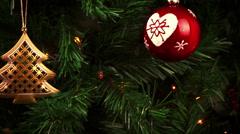 christmas decorations. abstract holiday christmas tree - stock footage