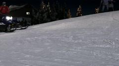 Alpine Skiing Resort - 22 - Night, Mountain, People - stock footage
