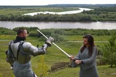 Stock Photo of Knightly armor and weapon