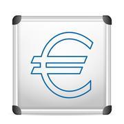 Stock Illustration of whiteboard euro