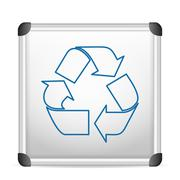whiteboard recycle - stock illustration