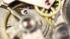 The Clock Mechanism 1 Stock Footage