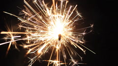 Holiday Sparkler Christmas Stock Footage