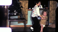 Kids Dance in front of TV Set CHILDREN DANCING 1960 Vintage Film Home Movie 9344 - stock footage