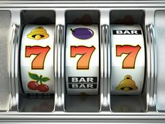 Slot machine with jackpot. Casino concept. Piirros