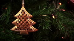 Christmas decorations. holiday christmas tree background lights Stock Footage