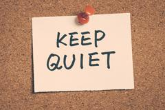 Keep quiet Kuvituskuvat