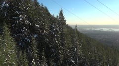 Alpine Skiing Resort - 62 - Skyride Gondola Window Stock Footage