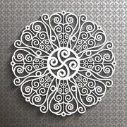 Paper lace doily - stock illustration