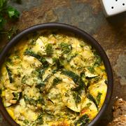 Zucchini Frittata - stock photo