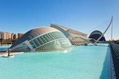 The city of arts, oceanographic and sciences, Valencia Stock Photos