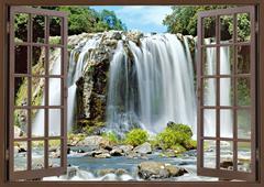 Blue Bassin Falls, Reunion Stock Photos
