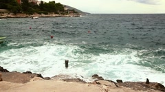Adriatic sea, waves in full hd Stock Footage