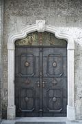 Old building door - stock photo