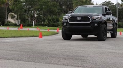 Test driving new 2016 toyota tacoma Stock Footage