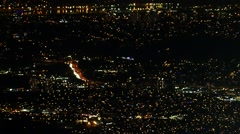 Night City Lights - Vancouver From Grouse Mountain - 02 Stock Footage