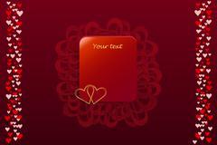 Valentine rectangle card - stock illustration