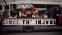 1952: 'Singe th Injuns' football parade performance art. GREELEY, COLORADO Stock Footage