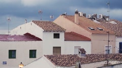 House roofs in Spain  Stock Footage
