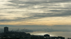 Seattle, Harbor, Fog, Clouds Stock Footage