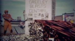 1952: Greeley Blasts Central football player parade float. GREELEY, COLORADO Stock Footage