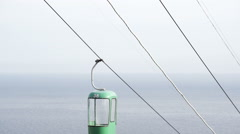 ropeway on the sea background - stock footage