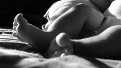 Close up of baby's feet. Stock Footage