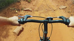 POV Riding Mountain Bike On Rough Trail- Sedona AZ Stock Footage