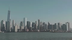 New York Skyline as seen from New Jersey December 2015 Stock Footage