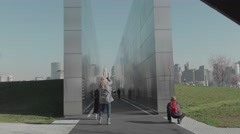 Empty Sky Memorial to the World Trade Center in Liberty State Park, NJ Stock Footage