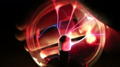 Stock Video Footage of Plasma Ball Interaction