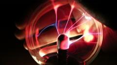 Plasma Ball Interaction  Stock Footage