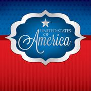 Shape Independence Day card in vector format. Stock Illustration