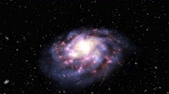 The only real 3D volumetric and most beautiful galaxy you can ever find Stock Footage
