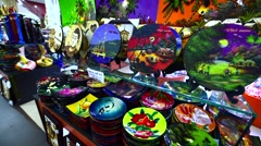 Traditional Vietnamese souvenirs at the Famous Maximark supermarket - stock footage
