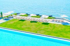 Hotel pool resort - stock photo