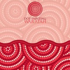 Dot painting invite/ greeting card in vector format. - stock illustration