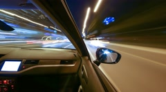 Driving Car Time Lapse Stock Footage